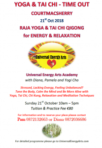 Tai Chi, Qigong, Yoga, Meditation Time-Out, Retreats & Training – Ireland