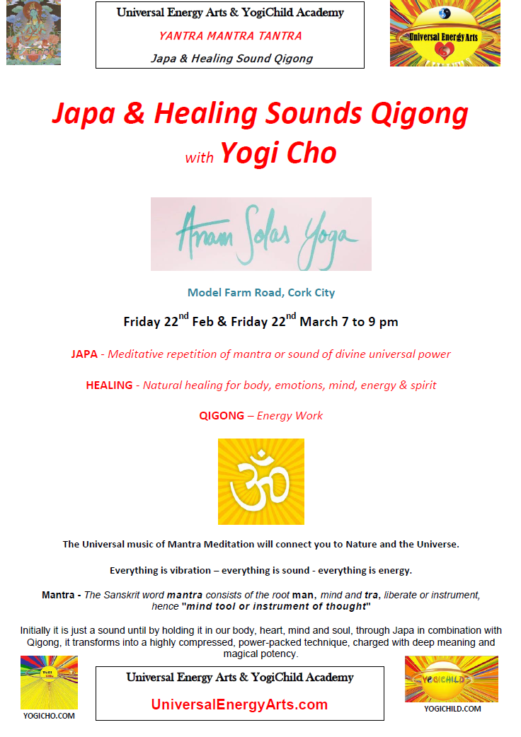 Japa & Healing Sounds Qigong – Event at Anam Solas Yoga Cork