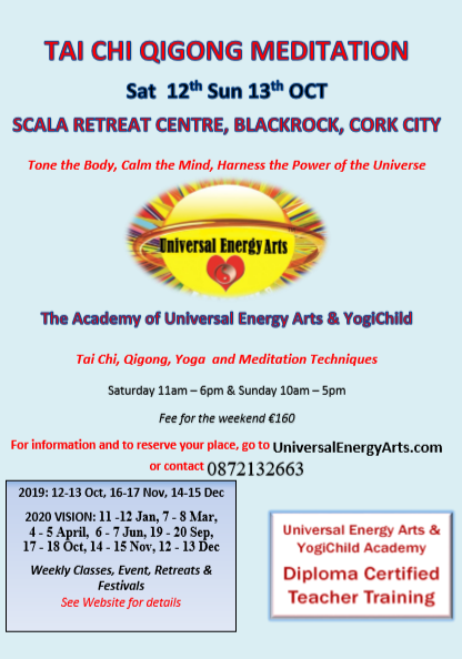Universal Energy Arts Academy 2019 – 2020 Time-Out Training Dates