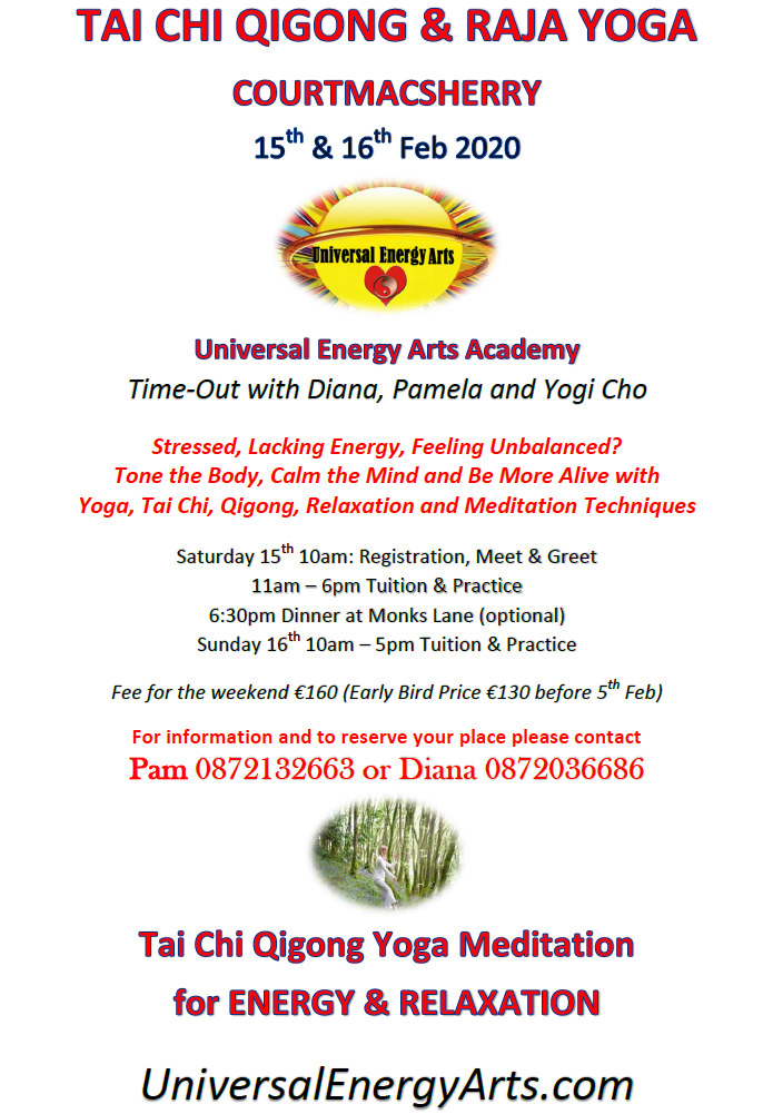 Universal Energy Arts Academy 2020 Time-Out Training Dates